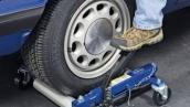 The Easiest Way to Move Your Car in Storage – Hydraulic Wheel Dollies.  No jacks required!