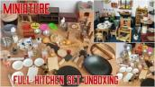 Miniature Real Cooking Full Kitchen Set Unboxing | Mini Kitchen Full Set Unboxing 2020 #MiniKitchen