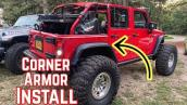 Fixing My Jeeps Body Damage -  JKU Corner Armor Install