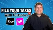 How To File Your Uber \u0026 Lyft Driver Taxes Using TurboTax [2021]
