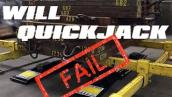 Epic QuickJack Car Lift Fail Video Attempt