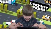 Playing Crossy Road (iPad/iOS/Tablet Gameplay Video)