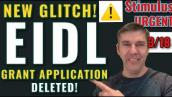 EIDL GRANT UPDATE $10,000: APPLICATION DELETED! NEW GLITCH! Targeted Advance Grant [3-18]  [PPP 2]
