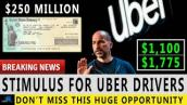 GOOD NEWS! $1,775 Cash Stimulus For Uber Drivers 2021 | Uber Stimulus Announcement | Credit Viral