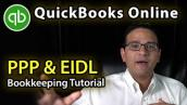 QuickBooks Online Tutorial: Accounting for PPP \u0026 EIDL loan (Part 1 of 2)