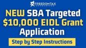 NEW SBA Targeted EIDL $10,000 Grant Application (Step by Step Instructions)