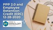 PPP 2 0 and Employee Retention Credit ERC 12 28 2020