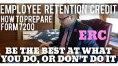 [SEE UPDATE] Prepare Form 7200 Employee Retention Credit. Qualified Sick \u0026 Family Leave Credits